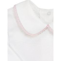 Camiseta manga larga con cuello.