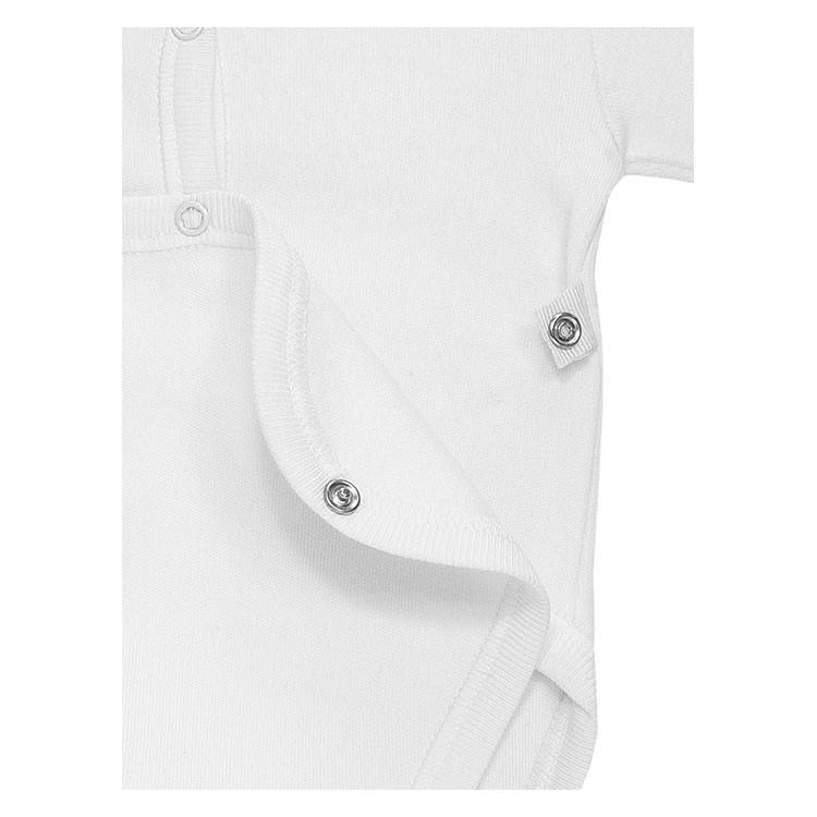 Pack 3 uds. Body neonato abierto delante manga larga 100% algodón. (ref. 843x3)