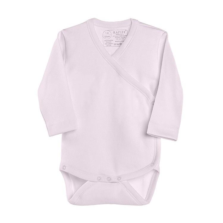 Pack 3 Uds. Body para bebé cruzado de manga larga 100% algodón. (ref.852)