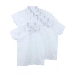 Pack 6 Unds. Polo infantil manga corta 100% algodón.