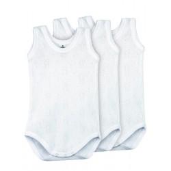 Pack 3 Unds. Body calado sport  100% algodón bebé.