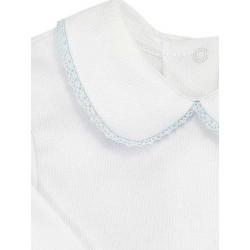 Pack 3 camisetas manga larga con cuello para bebé 100% algodón.