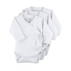 Pack 3 Uds. Body cruzado manga larga 100% algodón.