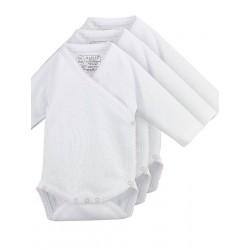 Pack 3 Unds. Body cruzado manga larga neonato 100% algodón. (ref.8728)
