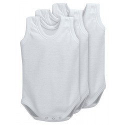 Pack 3 Unds. Body para bebé tirante sport 100% algodón.