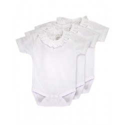 Pack 3 Baby´s short sleeve one-piece.