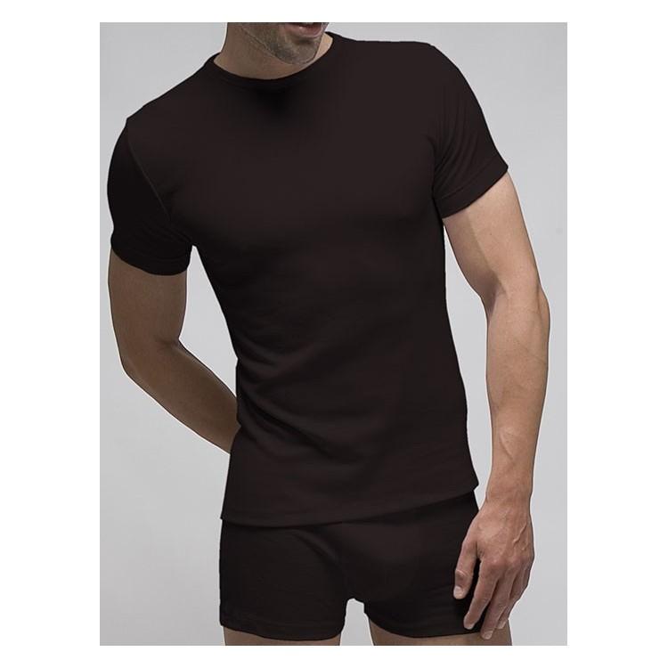 Pack 3 uds. camiseta manga corta hombre 100% algodón 1x1 patrón actual . (ref.3118)