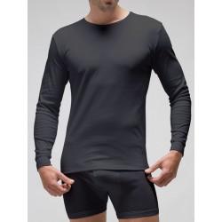 Camiseta interior termal manga larga hombre 100% algodón en Interlock felpado. (Ref: 830)