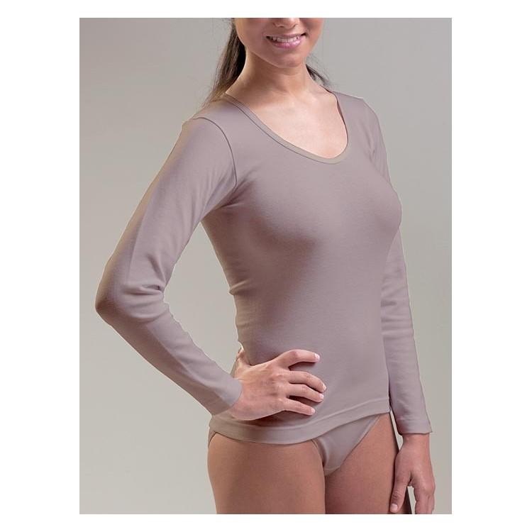 Camiseta TERMAL mujer manga larga 100% poliéster (ref. 7509)