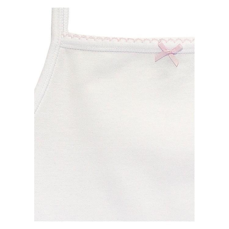 Pack 6 Unds. Camiseta tirante fino para niña de Algodón-elastano.