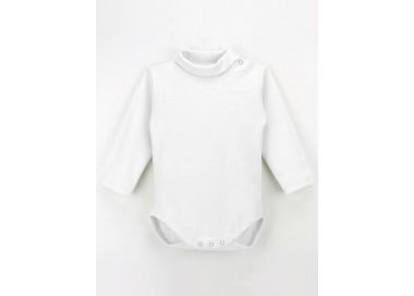 Body cuello alto de manga larga para bebé.