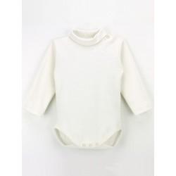 Body cuello alto de manga larga para bebé 100% algodón.