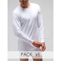 Men´s interior long sleeve thermal t-shirt in 100% cotton.