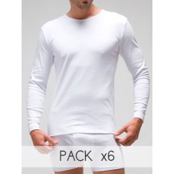 T-shirt long sleeves (napped) 100% combed cotton
