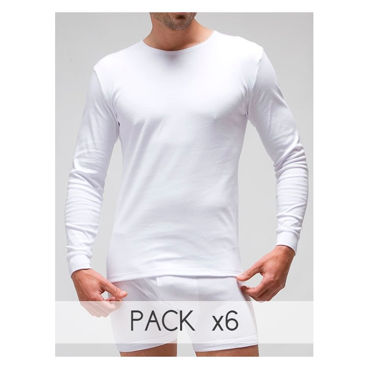 Camiseta termal manga larga cuello redondo