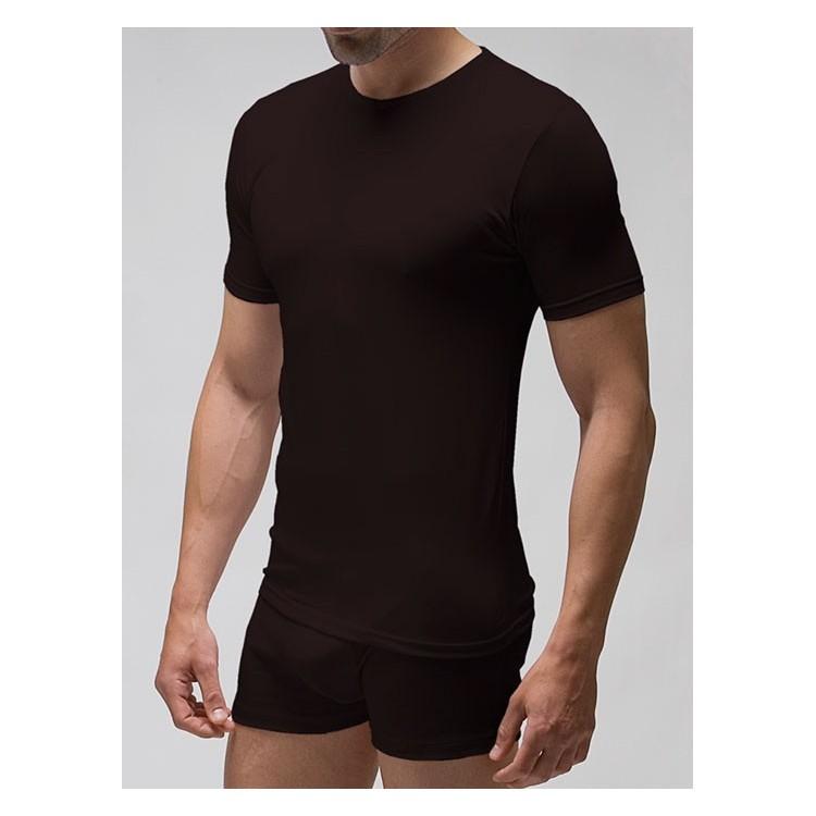 Camiseta interior hombre elástica manga corta 96% algodón-4% elastano. (ref.3418)