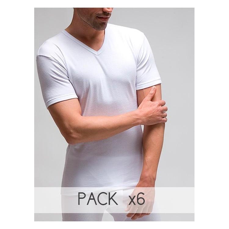 Camiseta manga corta cuello pico