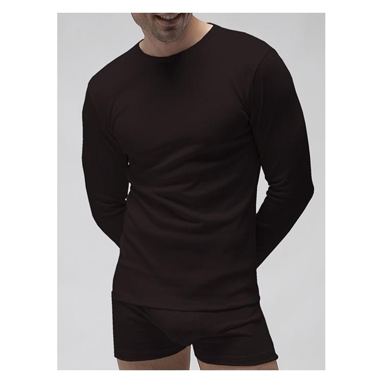PACK 6 Unds. Camiseta termal manga larga cuello redondo de poliéster en 1x1. (Ref: 7430)