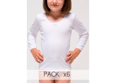 Camiseta manga larga para niña.