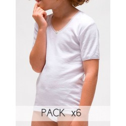 Girl´s short sleeve thermal t-shirt.