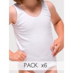 Pack 6 Unds. Camiseta sport para niña de algodón-elastano. (Ref: 2316)