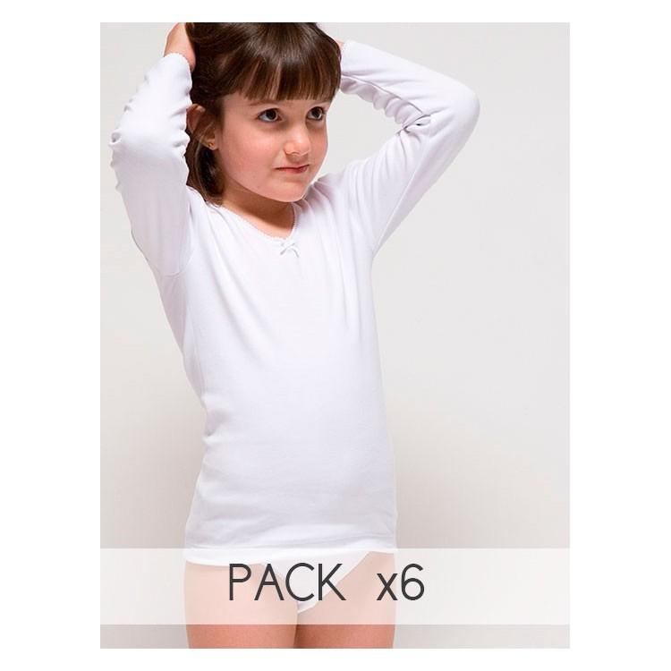 Camiseta termal para niña de manga larga