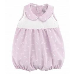 Pololo de bebé sin mangas rosa
