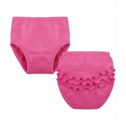 Baby panties with ruffles.