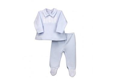 Conjunto dos piezas con pie bebé