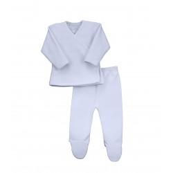 Conjunto dos piezas con pie bebé afelpado