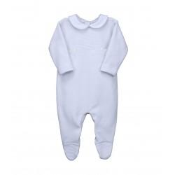 Pelele bebé manga larga afelpado