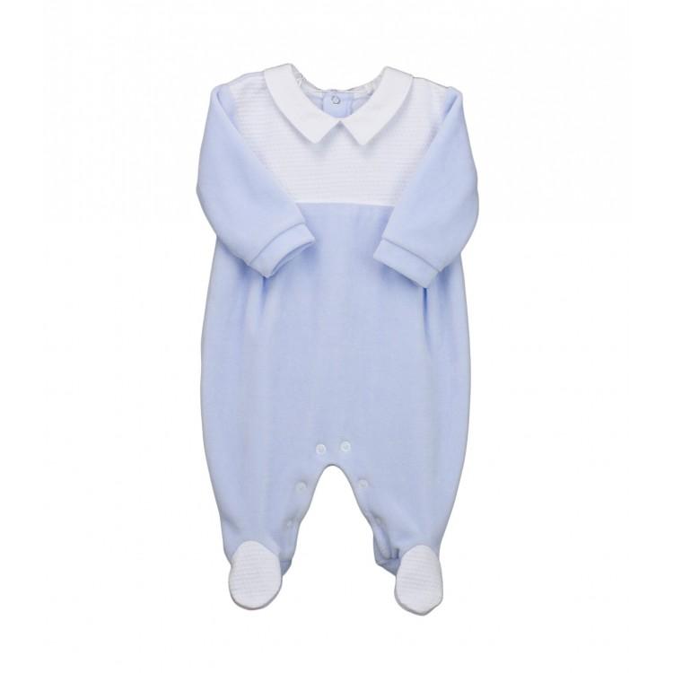 Pelele bebé manga larga velour (tundosado)