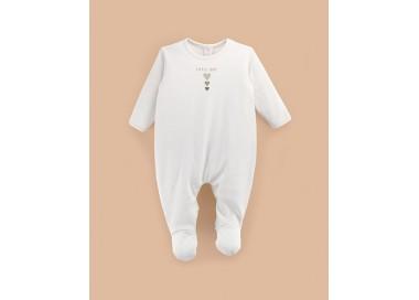 Pelele bebé manga larga algodón orgánico