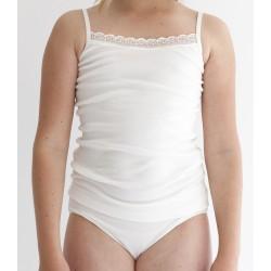 Conjunto de camiseta con escote trasero y braguita infantil (ref. 2346)
