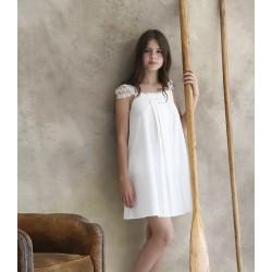 Camisón en tejido imitación de lino