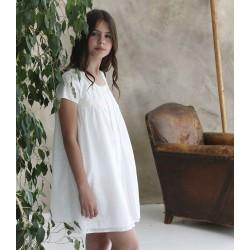 Bata en tejido imitación de lino