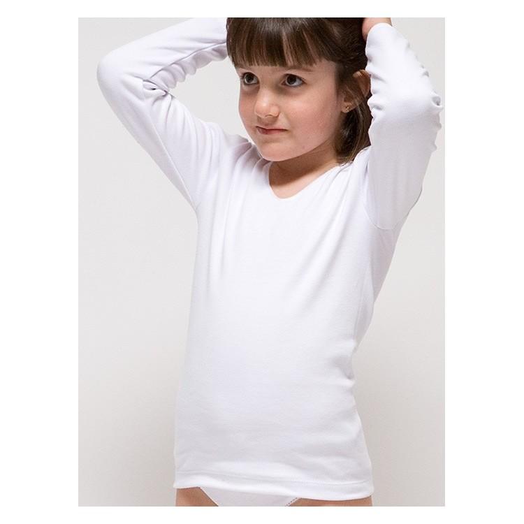 Camiseta manga larga para niña 96% algodón-4% elastano. (Ref: 2320)