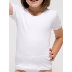 Camiseta manga corta para niña  algodón-elastano. (Ref: 2318)