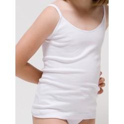 Camiseta tirante fino para niña Algodón-elastano. (Ref:2315)