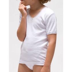 Camiseta termal manga corta para niña algodón-poliéster. (Ref: 360)