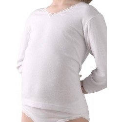 Camiseta TERMAL manga larga para niña 50% algodón-50% poliéster. (Ref: 365)