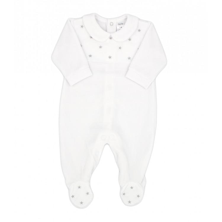 Pelele de algodón tundosado velour bebé Aconcagua