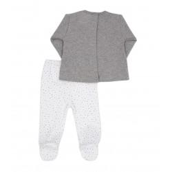 Conjunto dos piezas con pie bebé de invierno Kilimajaro