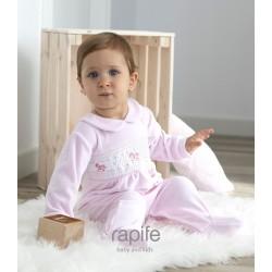 Pelele de algodón tundosado velour bebé Andes
