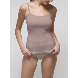 Camiseta de tirante fino para mujer 96% algodón-4% elástano. (REF. 2205)