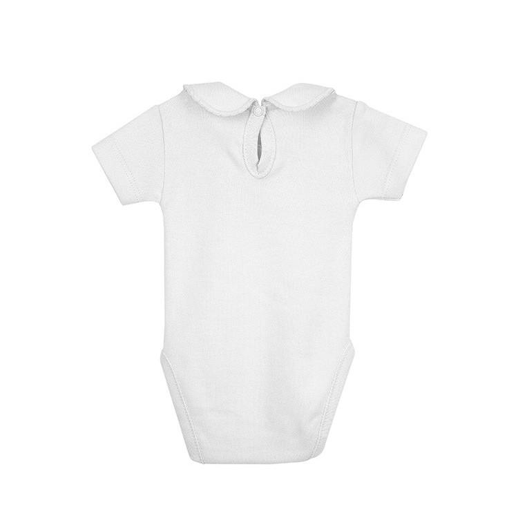 Body con cuello manga corta neonato 100% algodón.