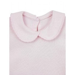 Newborn´s short sleeve one-piece with collar.