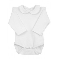 Newborn´s long sleeve one-piece with collar.