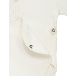 Newborn´s short sleeve open one-piece.
