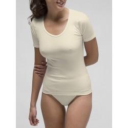 Basic women´s short sleeve t-shirt in spandex cotton.
